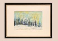 Aquarellmalerei, Eis, Natur, Sonnenlicht