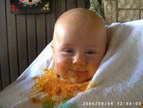 Lätzchen, Tomatensosse, Bekleckert, Menschen