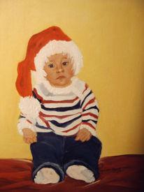 Malen, Weihnachtsmann, Malschule, Ölmalerei