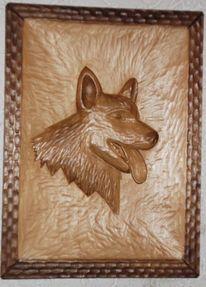 Relief, Kunsthandwerk, Holz, Schäfer