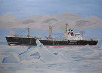 Marinemalerei, Schiffsbilder, Malerei, Eis