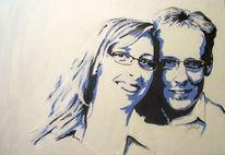 Acrylmalerei, Portrait, Popart, Malerei