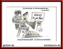 Karikatur, Abmahnung, Rechtsanwalt, Abzocke