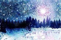 Eis, Nacht, Schnee, Winter