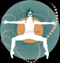 Schallplattenspieler, Tanz, Stern, Tanzschule