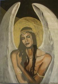Engel, Frau, Malerei, Surreal
