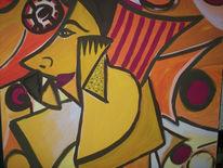 Malerei, Abstrakt, Engel