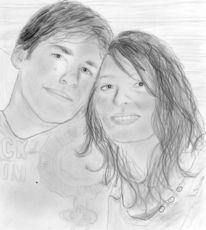 Portrait, Malen, Zeichnen, Bleistiftzeichnung