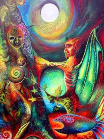 Ambivalenz angst glühen, Malerei, Surreal