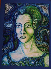 Grün, Blau, Augen, Gesicht