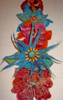 Glasperlen, Blumen, Filzen, Filz