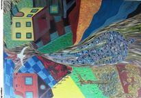 Malerei, Atelier, Abstrakt, Rückkehr