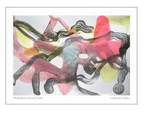 Malerei, Rot, Bleistiftzeichnung, Farben