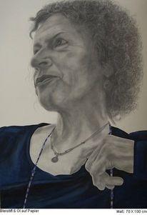 Portrait, Bleistiftzeichnung, Menschen, Ölmalerei