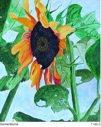 Blumen, Sonnenblumen, Kunstwerk, Sonne