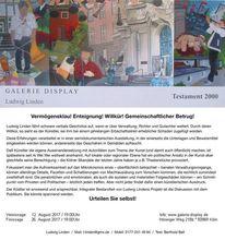 Vernissage, Köln, Geschichte, Ausstellung
