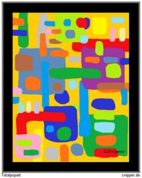 Farben, Totalpopart, Abstrakt, Darstellung