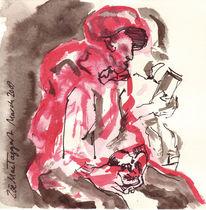 Zeichnung, Bibel, Rot schwarz, Drsketchysantiartschool