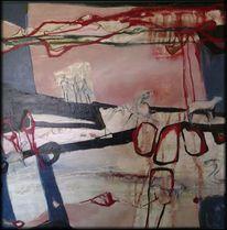 Abstrakte malerei, Blau, Menschen, Linie