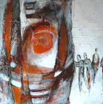 Beige, Orange, Braun, Person