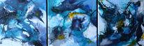 Wasser, Gelb, Blau, Malerei