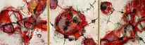 Weiß, Energie, Rot schwarz, Triptychon