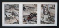 Schwarz, Abstrakt, Braun, Malerei