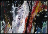 Abstrakte malerei, Linie, Blau, Rot schwarz