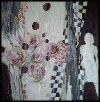 Muster, Abstrakte malerei, Schachbrettmuster, Frau