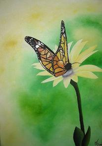 Malerei, Stillleben, Schmetterling