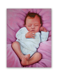 Ölmalerei, Baby, Simon, Malerei