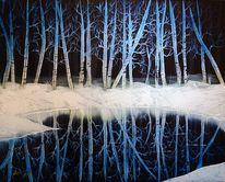 Landschaft, Pflanzen, Baum, Schnee