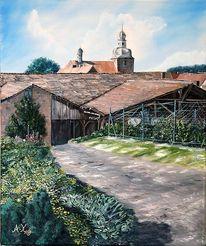 Gebäude, Garten, Kirche, Scheune