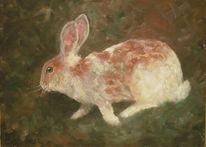 Hase, Kaninchen, Impressionismus, Garten