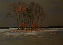 Winter, Schnee, Wald, Malerei