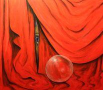 Mystik, Augen, Surreal, Rot