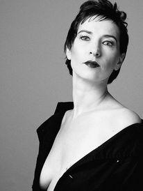 Schwarzweiß, Frau, Fotomodell, Portrait