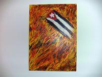 Feuer, Kuba, Malerei, Blut