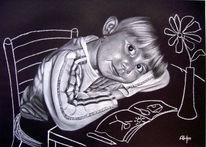 Blumen, Mädchen, Portrait, Zeichnungen