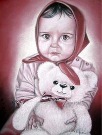 Weiß, Kind, Portrait, Augen