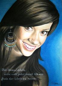 Augen, Portrait, Lächeln, Zeichnungen