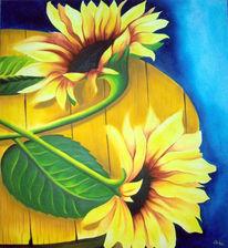 Sonnenblümen, Malerei, Stillleben