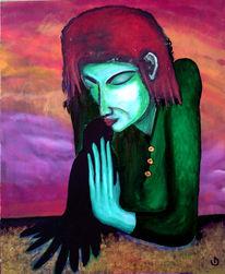 Frau, Magie, Malerei, Surreal