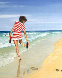 Wasser, Küste, Meer, Sommer