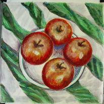 Stillleben, Apfel, Malerei