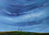 Wolken, Besinnung, Landschaft, Natur
