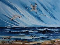 Möwe, Meer, Ostsee, Malerei