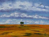 Naturlandschaft, Ruhe, Stille, Feld