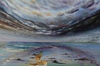 See, Wolken, Meer, Malerei