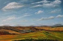 Landschaft, Tal, Malerei, Gemälde